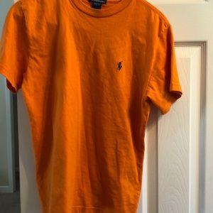 😍2/$18😍Polo t-shirt orange good condition.